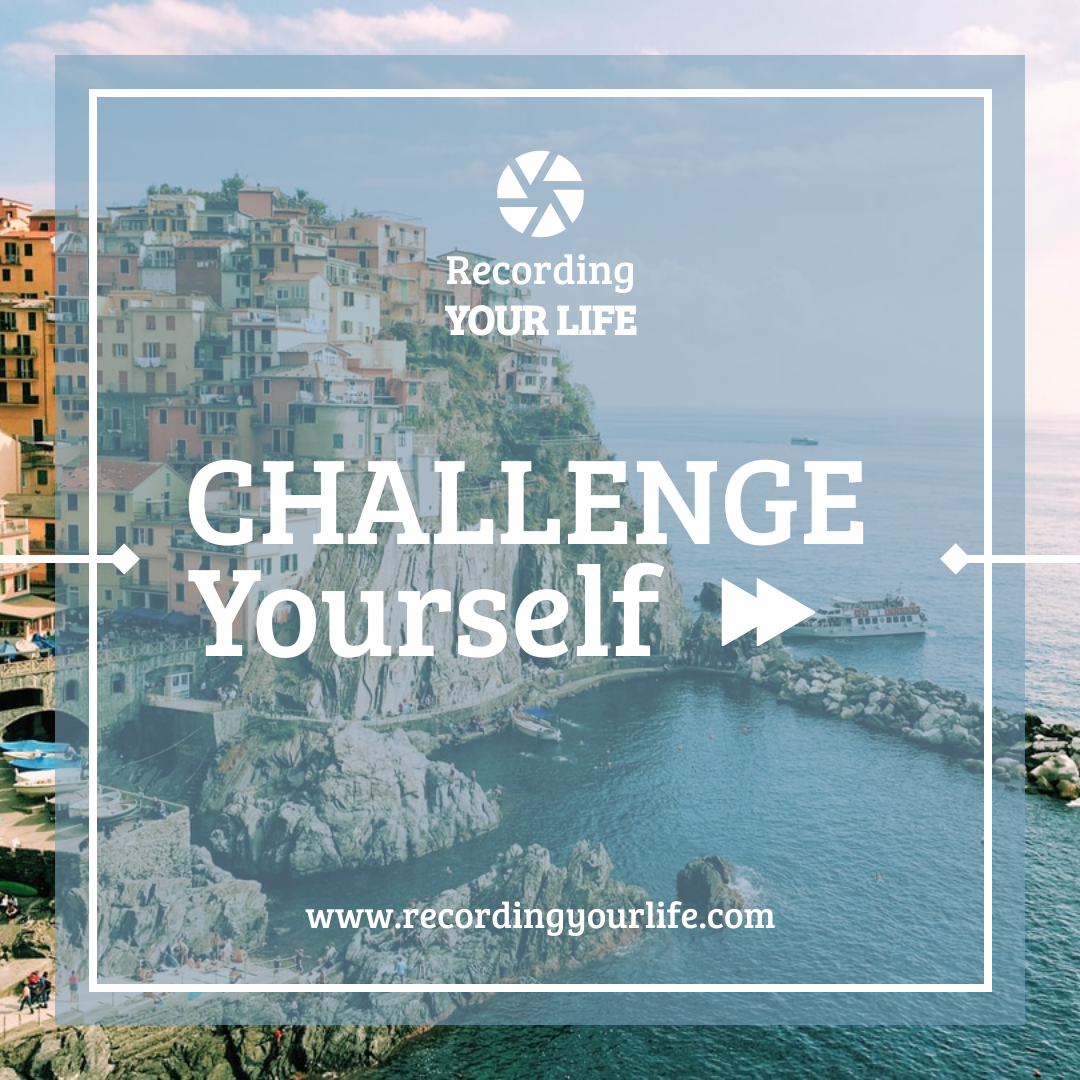 Instagram Post template: Photography Instagram Post About Challenge Yourself By Travelling (Created by InfoART's Instagram Post maker)