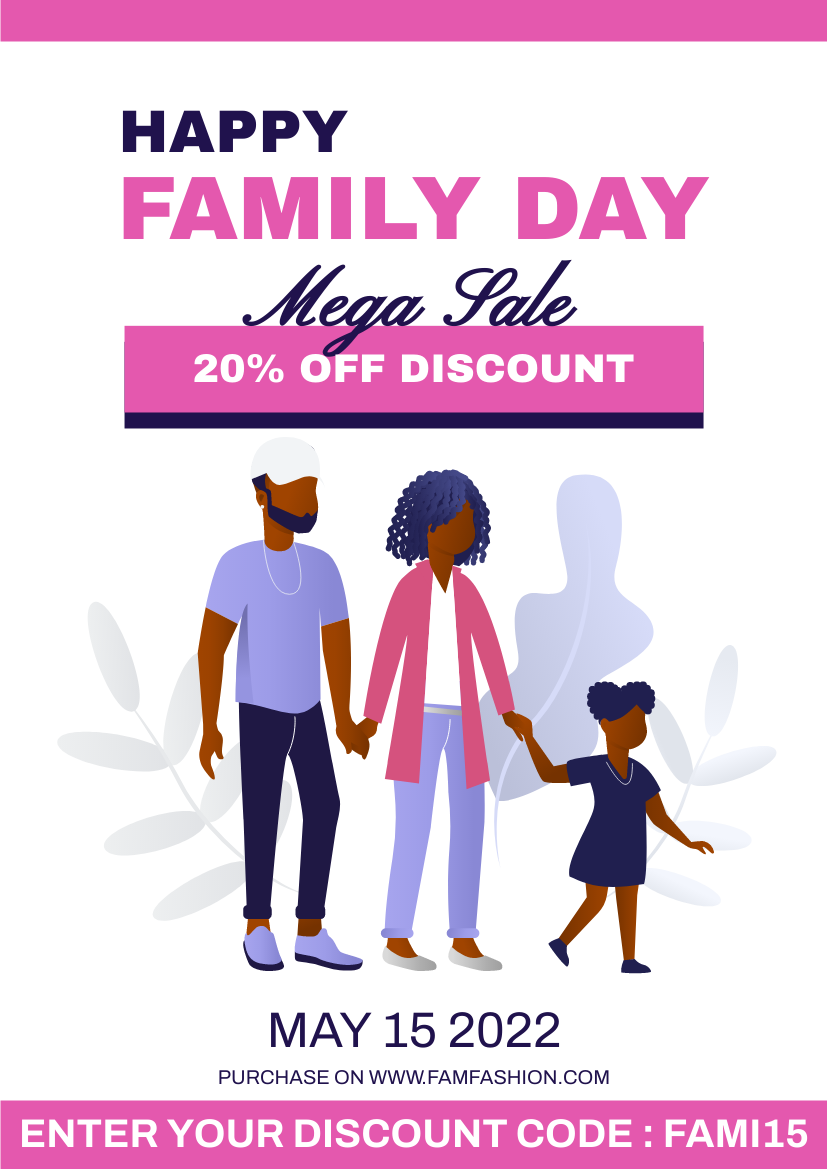 Flyer template: Family Day Fashion Sales Flyer (Created by InfoART's Flyer maker)