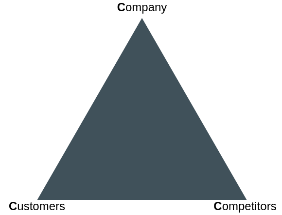 Ohmaes 3C Model template: Ohmae Strategic Triangle (Created by Diagrams's Ohmaes 3C Model maker)