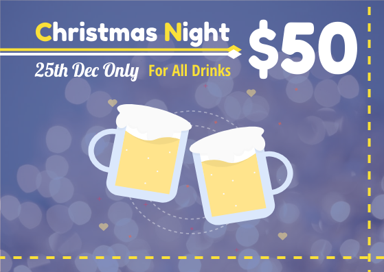 Gift Card template: Christmas Night Drinks Gift Card (Created by InfoART's Gift Card maker)