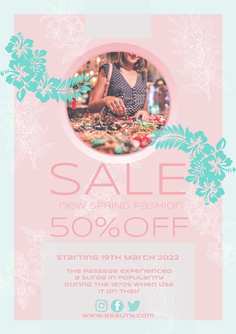 Flyer template: Girl Pink Sale Flyer (Created by InfoART's Flyer maker)
