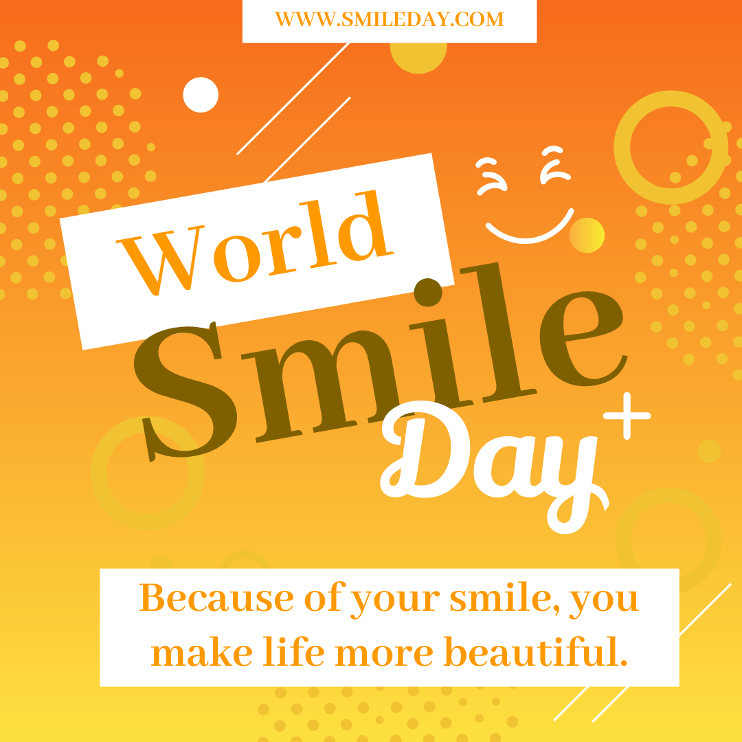 Instagram 帖子 template: World Smile Day Quote Instagram Post (Created by InfoART's Instagram 帖子 maker)