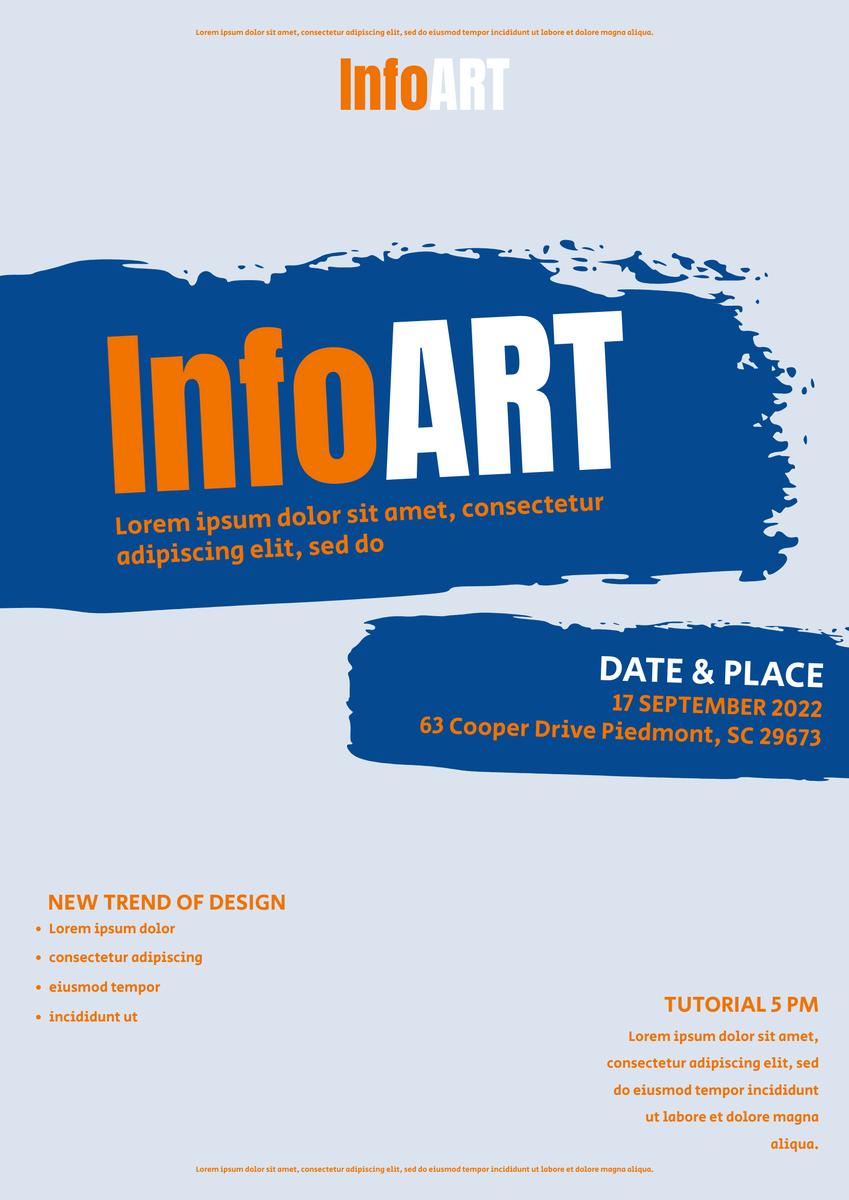 Poster template: InfoArt poster (Created by InfoART's Poster maker)