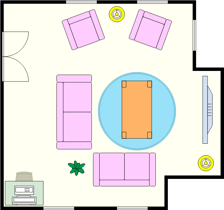 Cozy Living Room (Living Room Example)