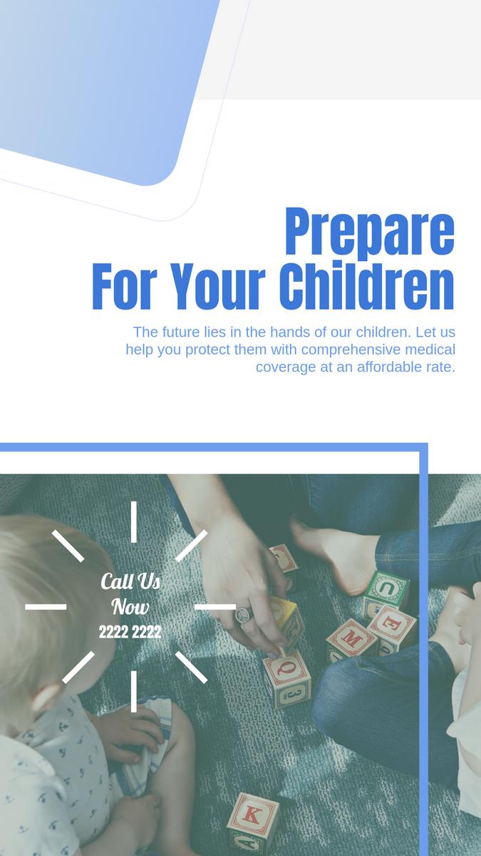 Instagram Story template: Children Insurance Instagram Story (Created by InfoART's Instagram Story maker)