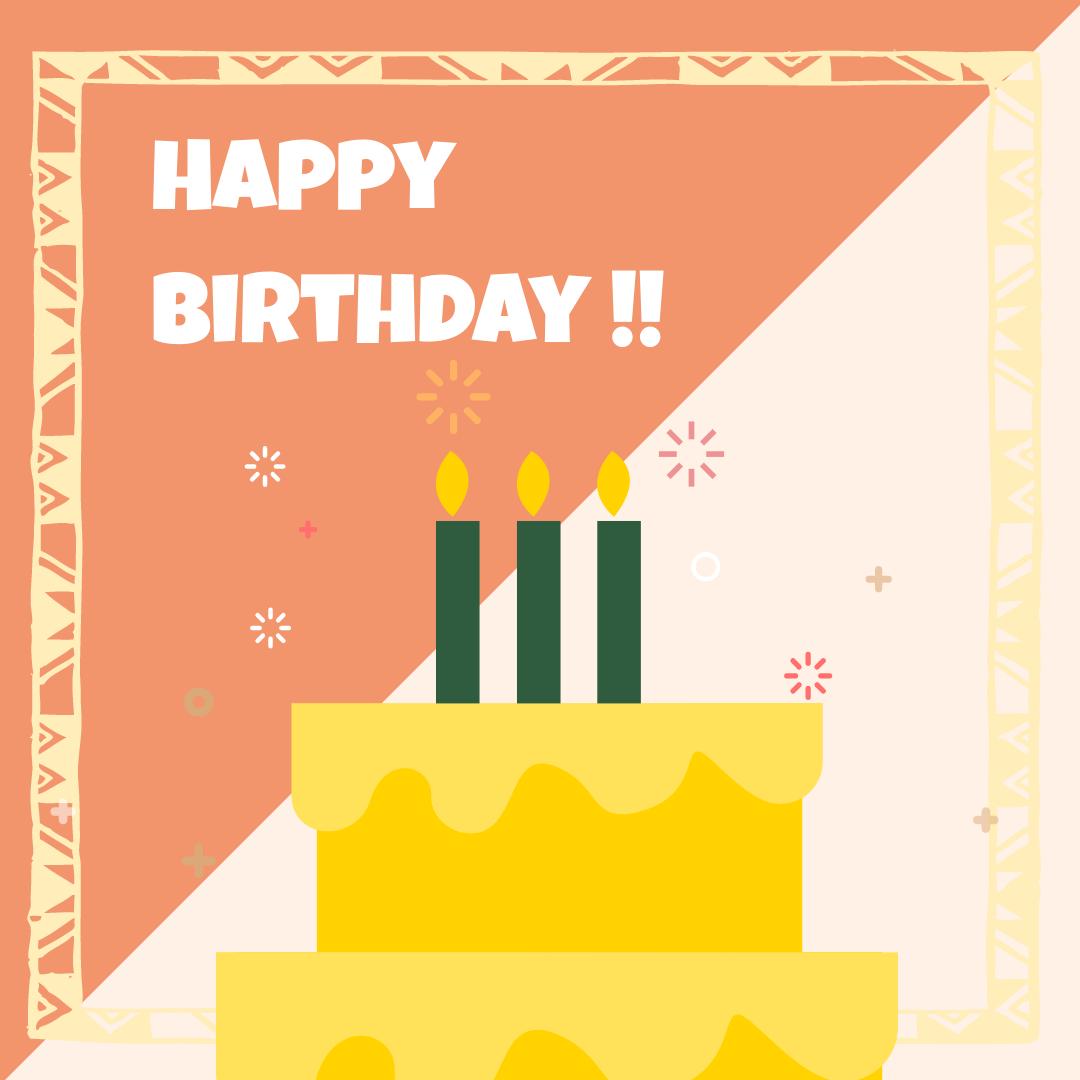 Instagram Post template: Simple Birthday Cake Instagram Post (Created by InfoART's Instagram Post maker)
