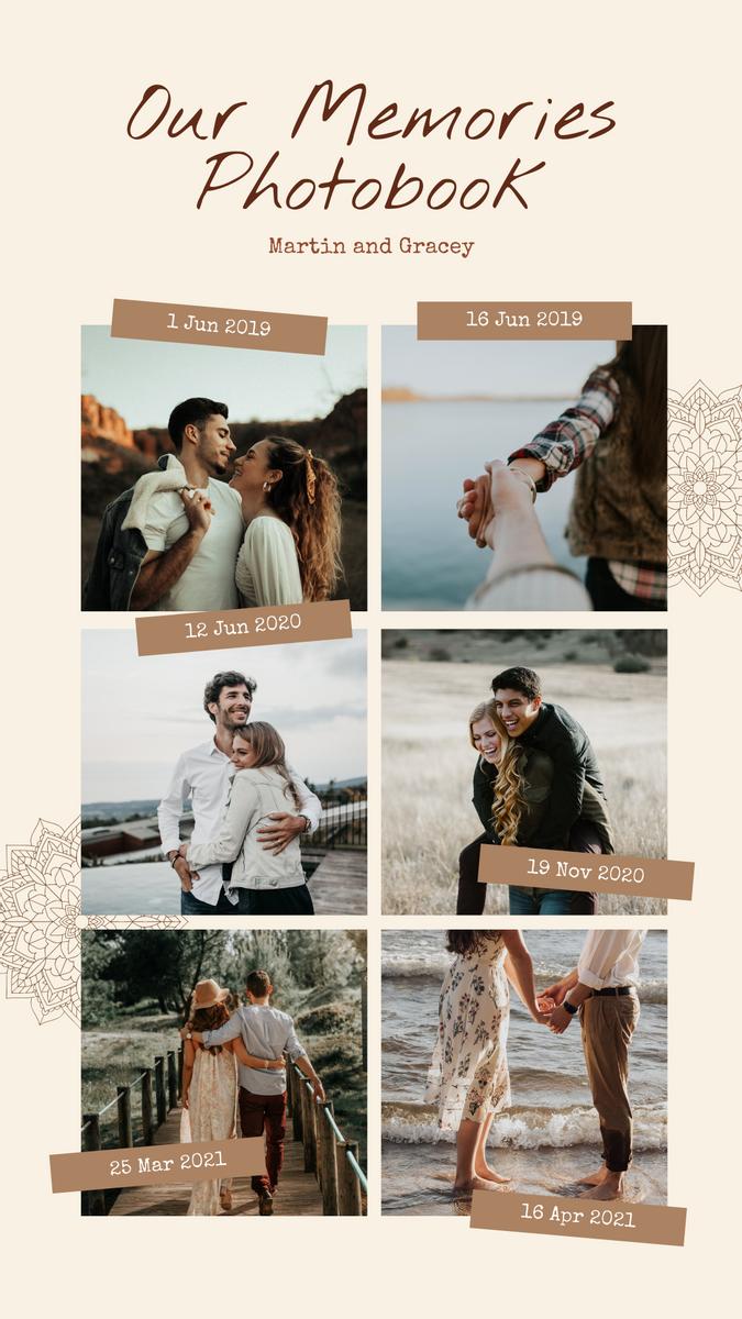 Instagram Story template: Memories Photobook Instagram Story (Created by InfoART's Instagram Story maker)