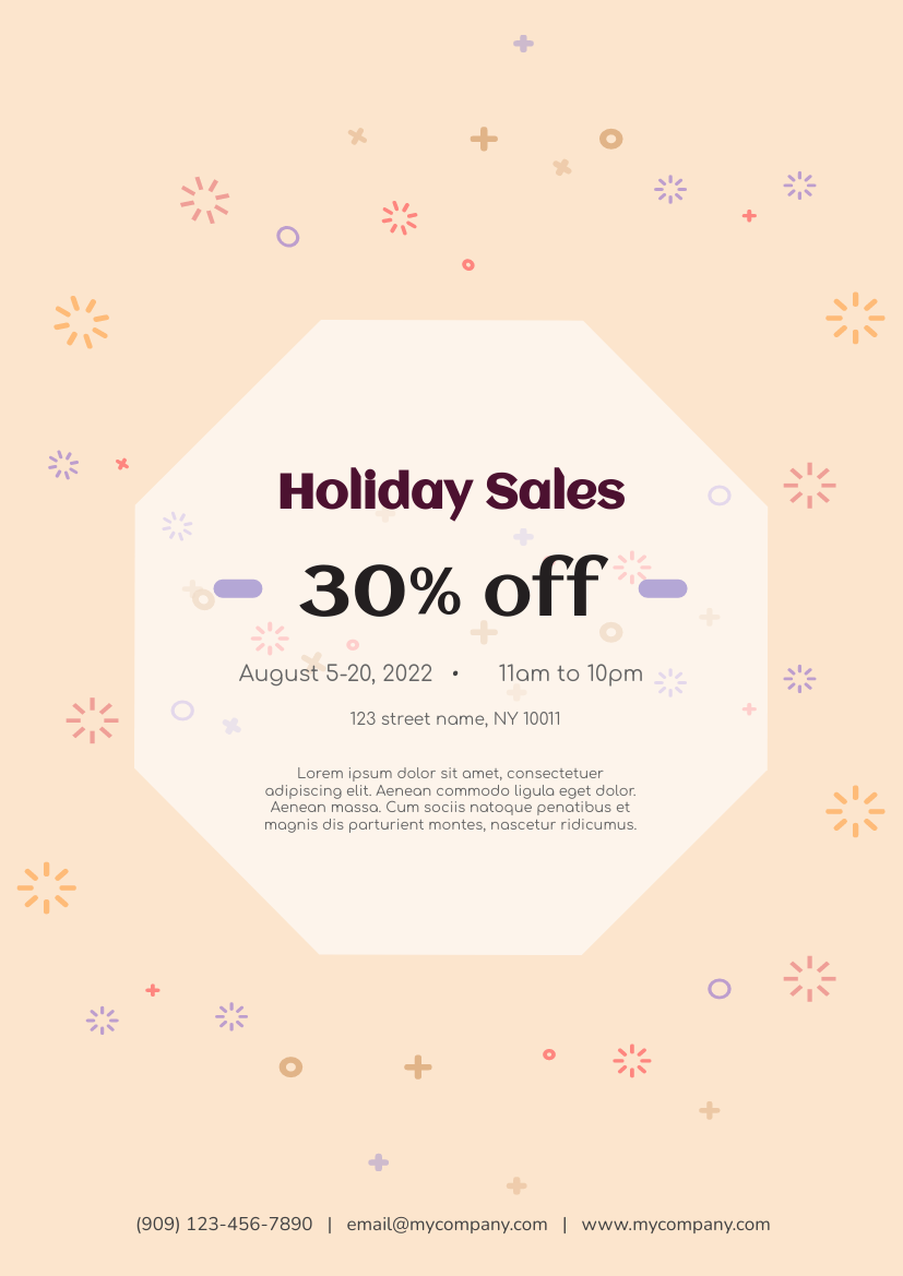 Flyer template: Holiday Sales Flyer (Created by InfoART's Flyer maker)