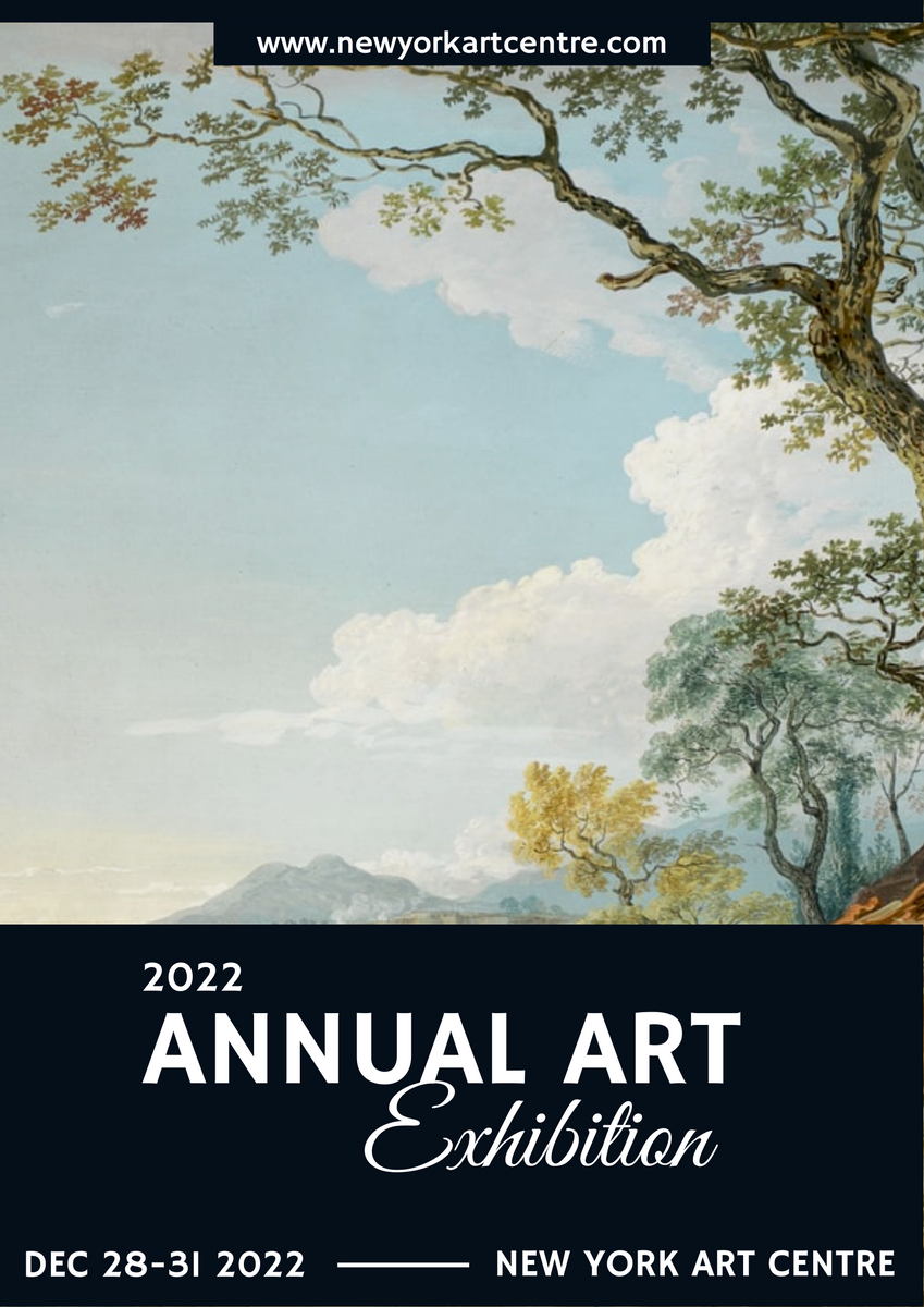 Poster template: Blue 2020 Annual Art Exhibition Poster (Created by InfoART's Poster marker)