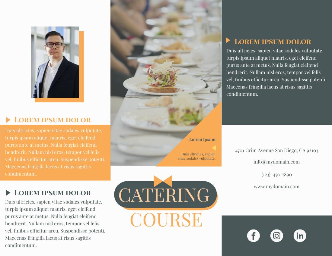 Brochure template: Catering Course Brochure (Created by InfoART's Brochure maker)