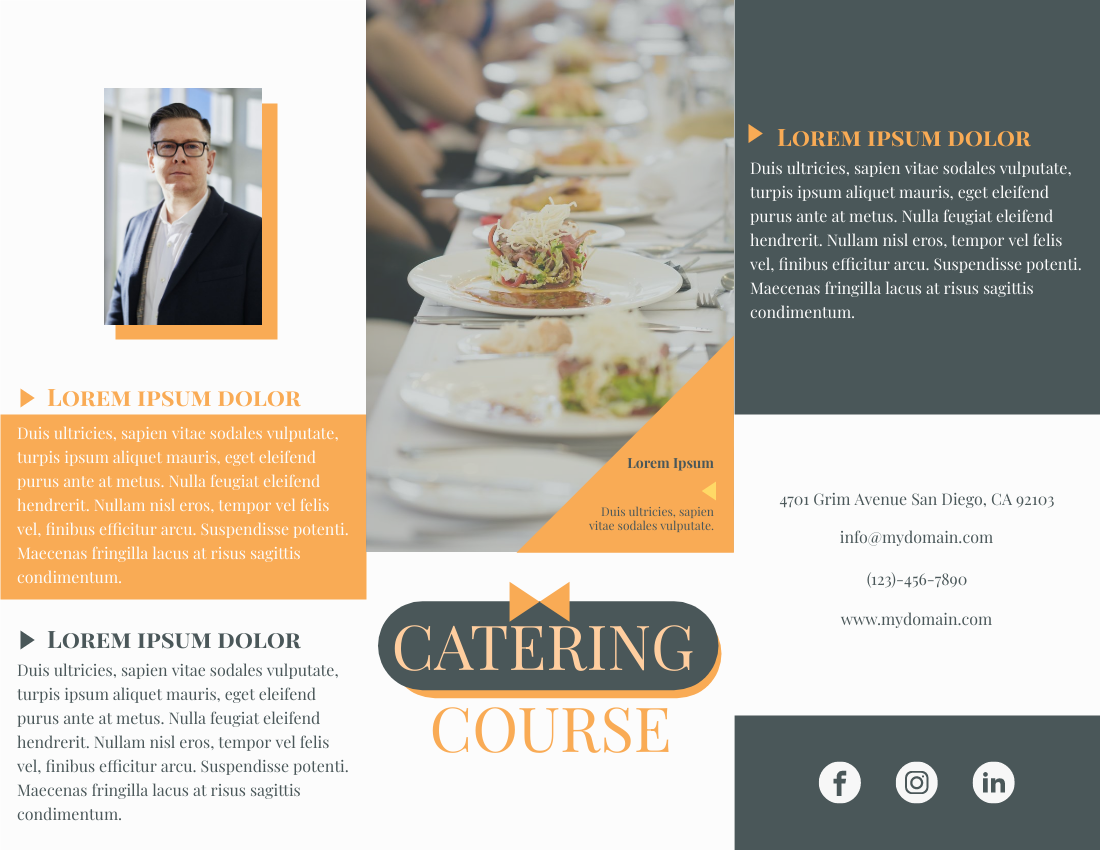 Brochure template: Catering Course (Created by InfoART's Brochure marker)