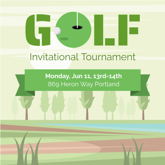 Invitation template: Golf Tournament (Created by InfoART's Invitation marker)
