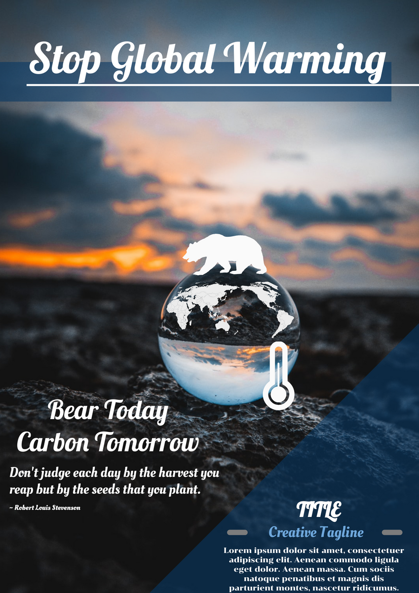 Poster template: Global Warming Poster (Created by InfoART's Poster maker)
