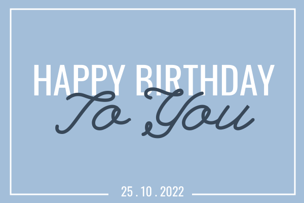 Greeting Card template: Blue Birthday Card (Created by InfoART's Greeting Card marker)
