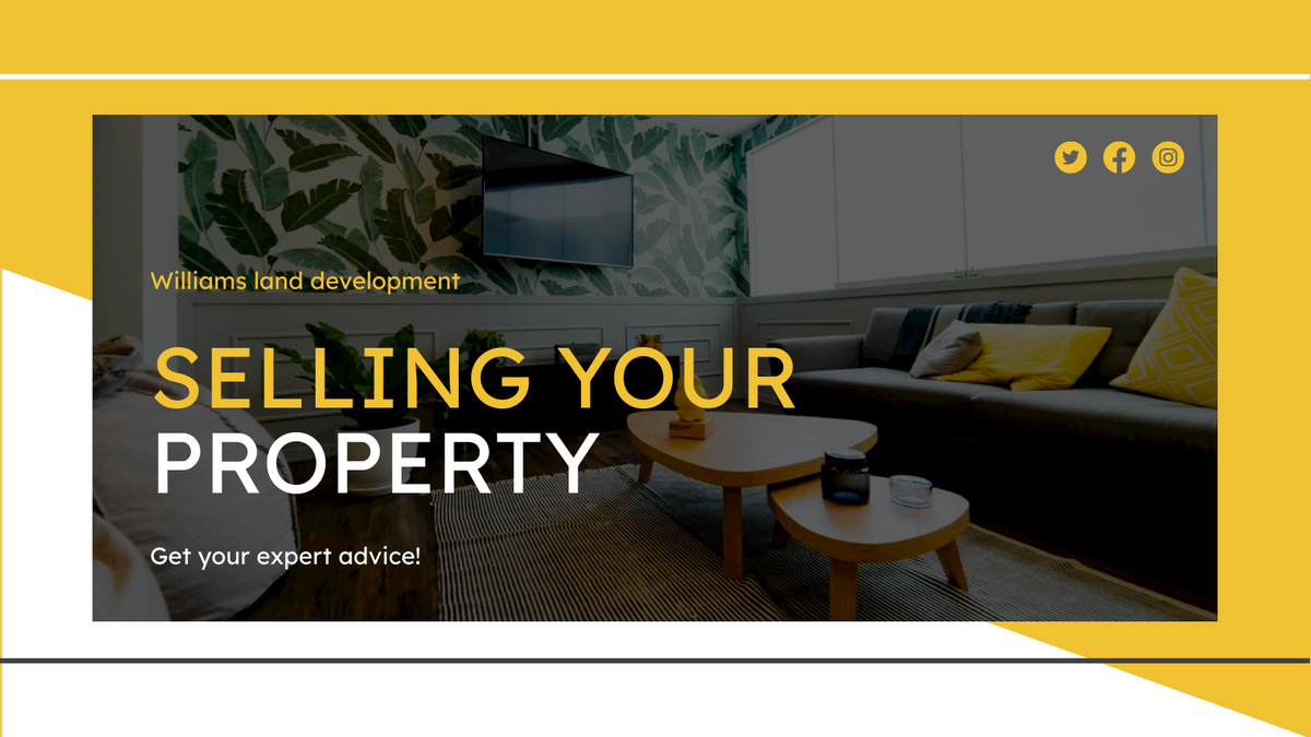 Twitter Post template: Selling Your Property Real Estate Twitter Post (Created by InfoART's Twitter Post maker)