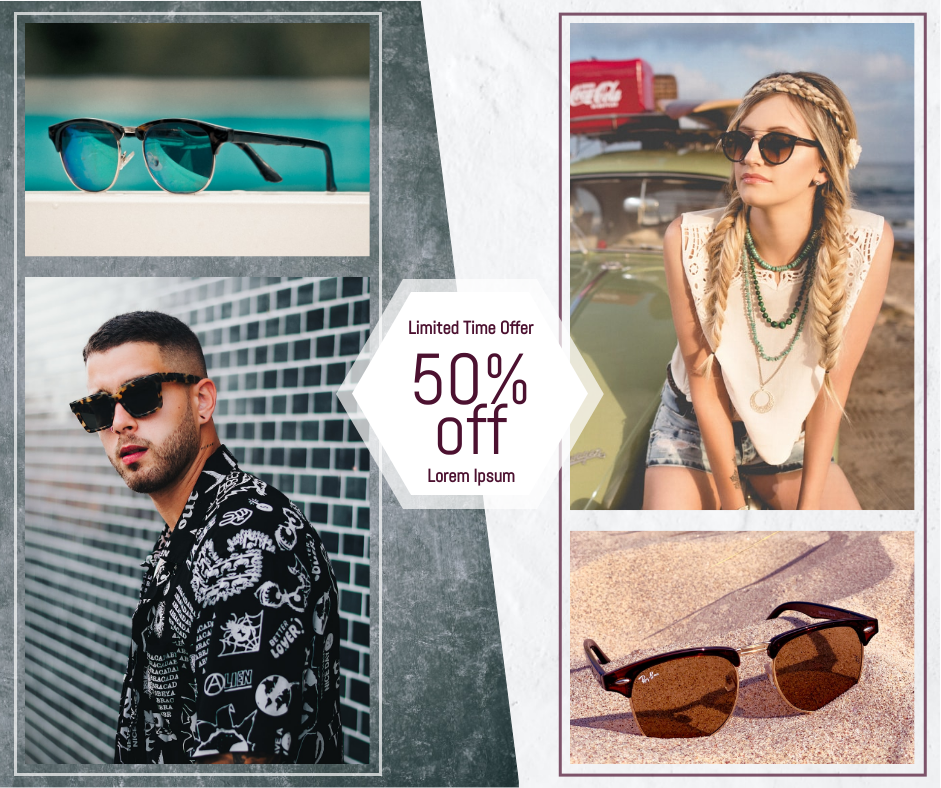 Facebook Post template: Sunglass Sale Facebook Post (Created by Collage's Facebook Post maker)