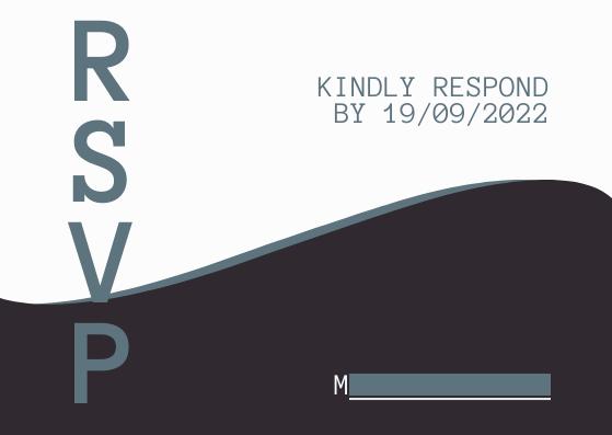 Postcard template: Rsvp Invitation (Created by InfoART's Postcard maker)
