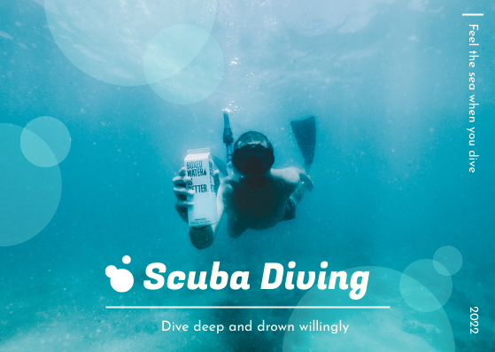 Post Card template: Scuba Diving Post Card (Created by InfoART's Post Card marker)