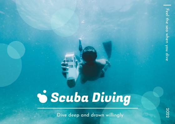 Postcard template: Scuba Diving Postcard (Created by InfoART's Postcard maker)