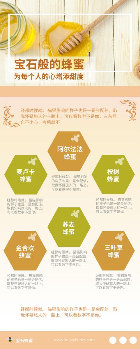 信息图表 template: 六种常见蜂蜜信息图表 (Created by InfoART's 信息图表 maker)