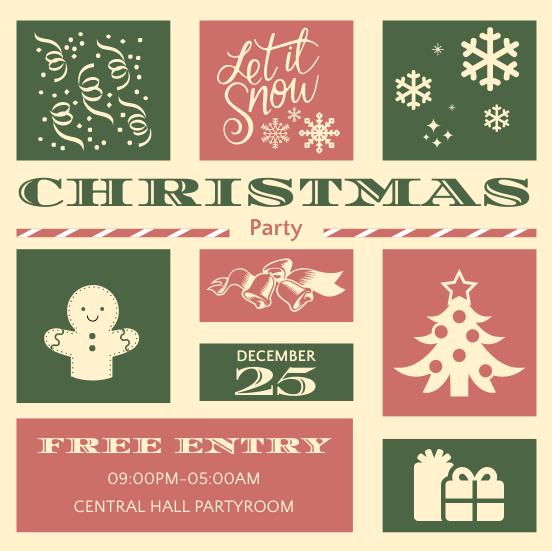 Invitation template: Collage Christmas Invitation (Created by InfoART's Invitation maker)