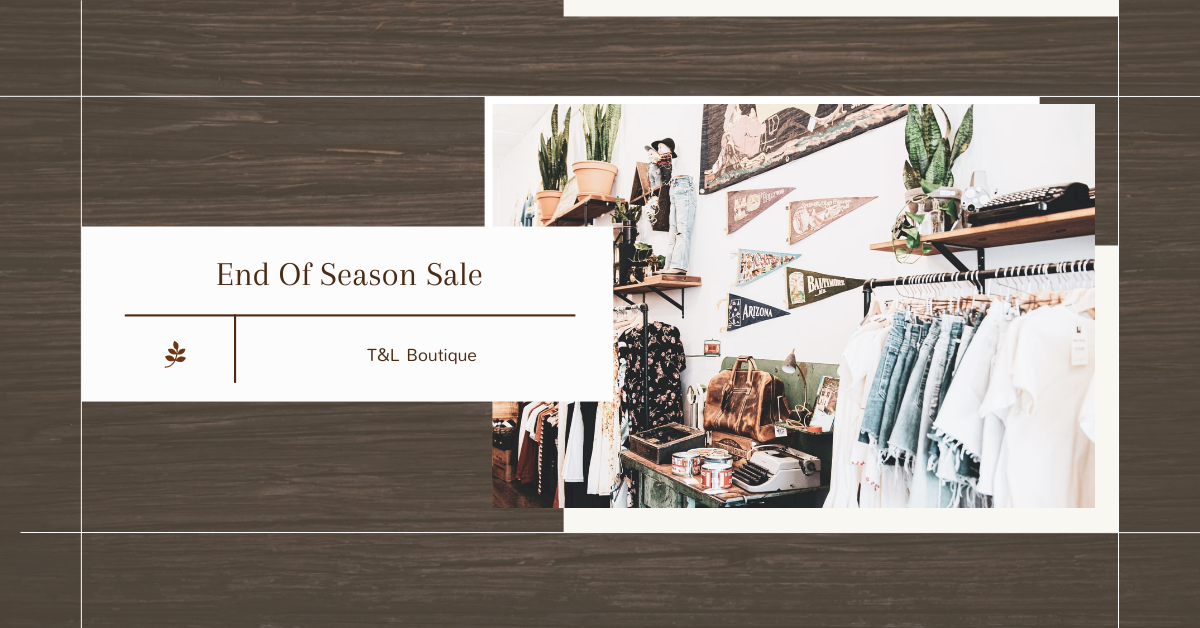 Facebook Ad template: Boutique End Of Season Sale Facebook Ad (Created by InfoART's Facebook Ad maker)