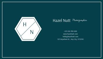 Business Card template: Blue Sea Photo Photographer Business Card (Created by InfoART's Business Card maker)
