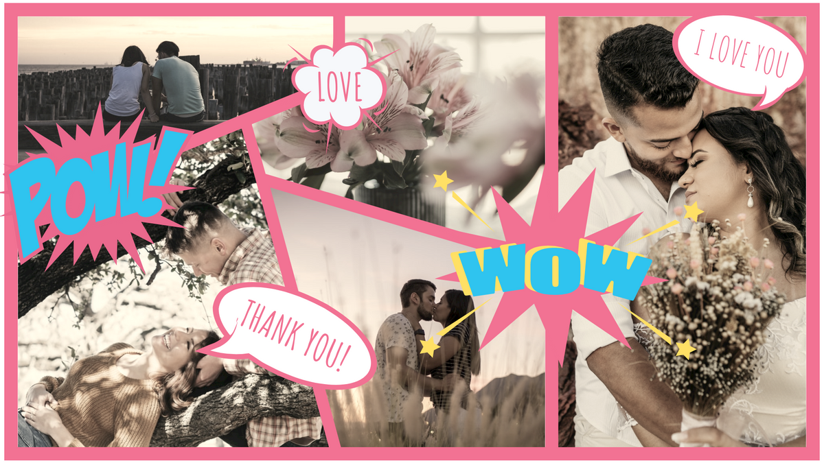 Comic Strip template: Special Couple Moment Comic Strip (Created by Collage's Comic Strip maker)
