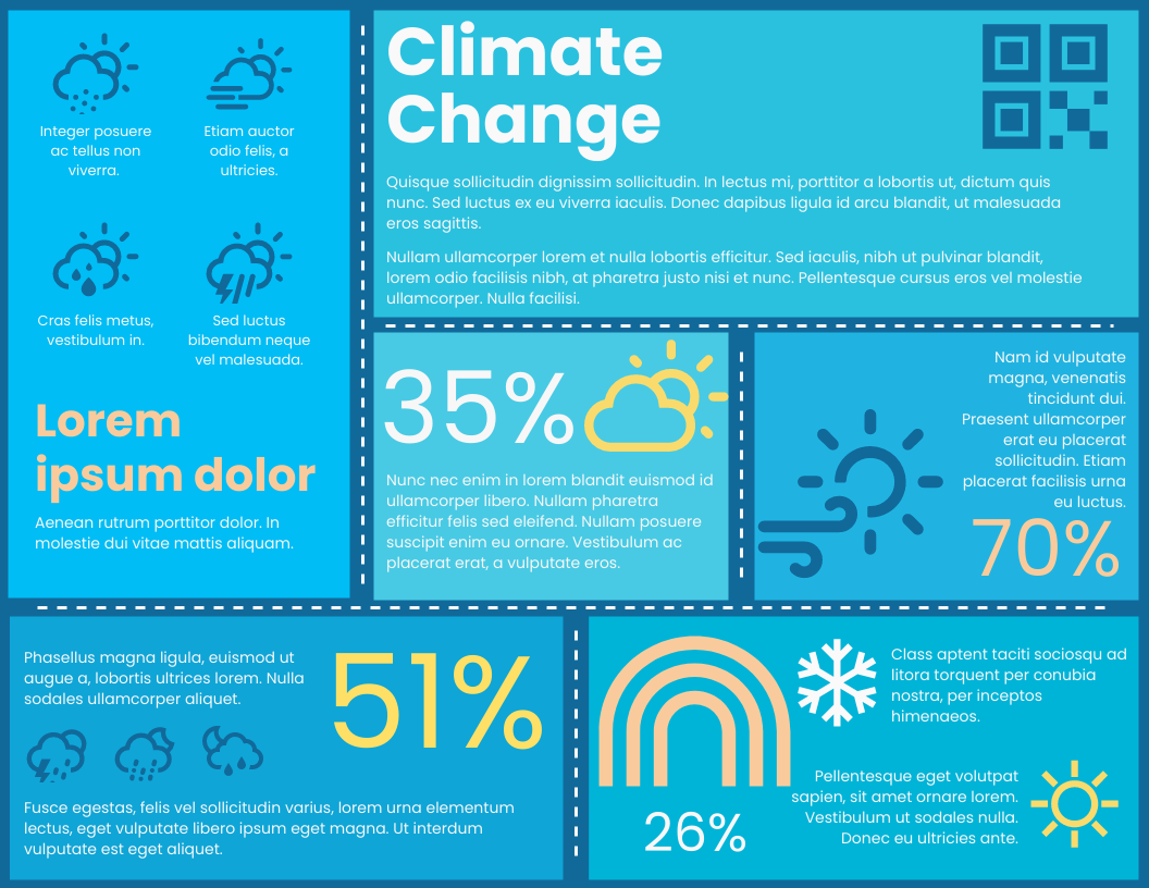 Infographic template: Climate Change Horizontal Infographic (Created by InfoART's Infographic maker)