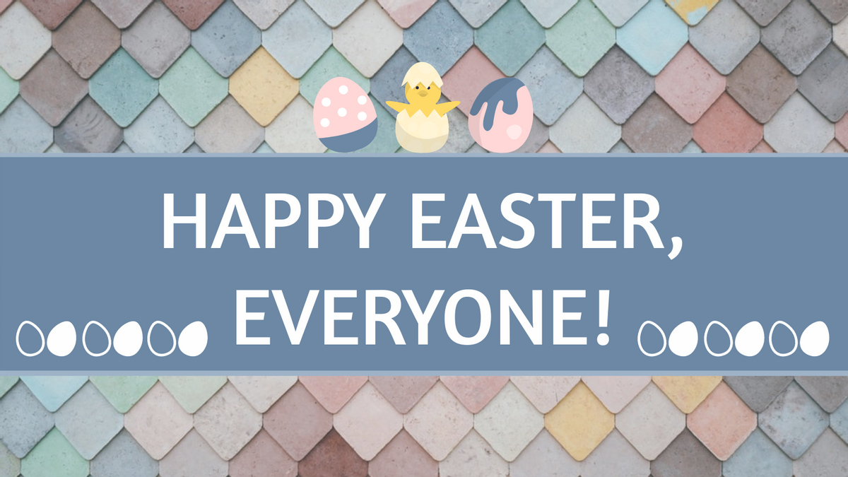 Twitter Post template: Happy Easter Twitter Post (Created by InfoART's Twitter Post maker)