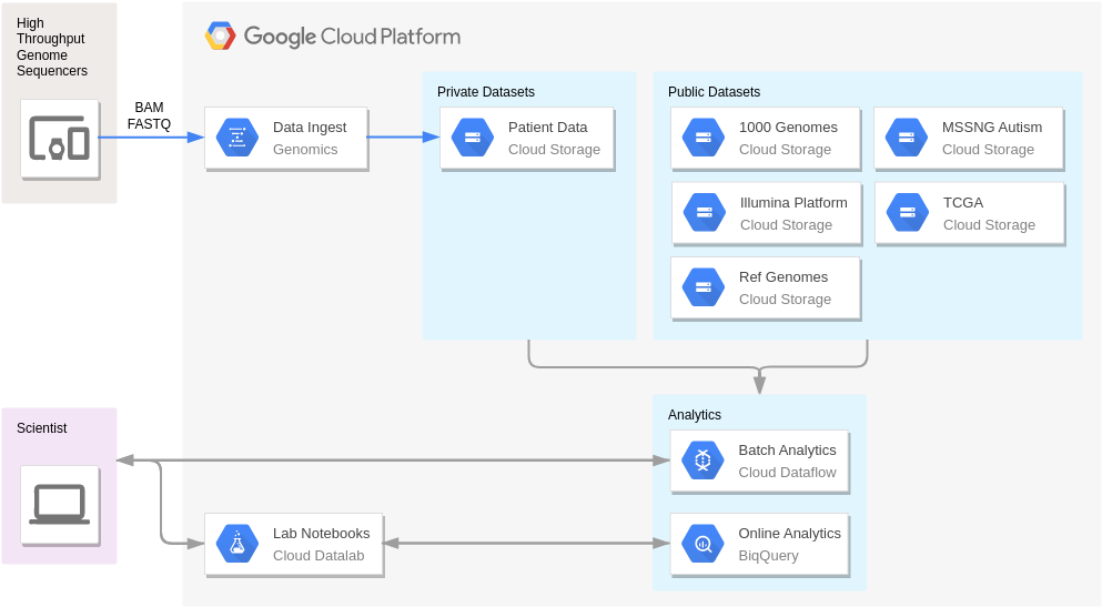 Variant Analysis (GoogleCloudPlatformDiagram Example)