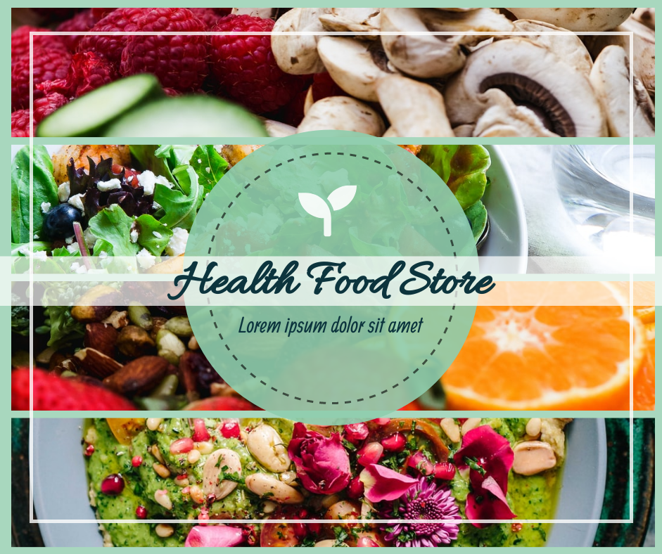 Facebook Post template: Health Food Store Facebook Post (Created by Collage's Facebook Post maker)
