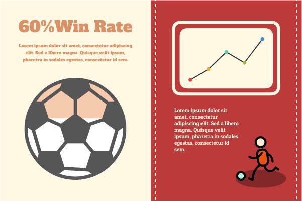 Sport template: Football Win Rate Analysis (Created by InfoChart's Sport maker)