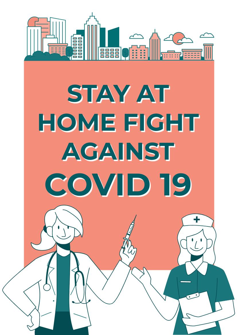 Flyer template: COVID19 Flyer (Created by InfoART's Flyer maker)