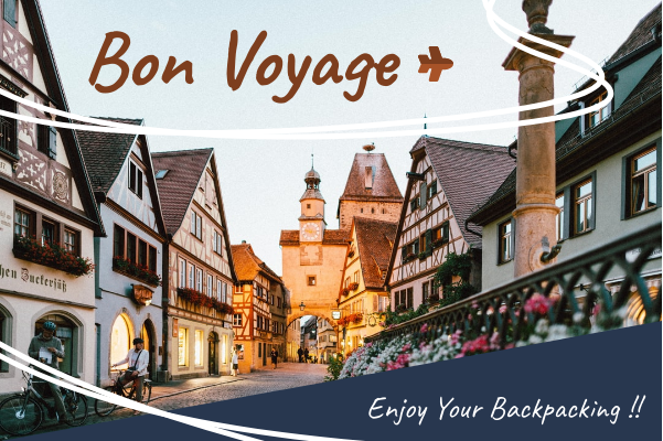 Greeting Card template: Bon Voyage Card (Created by InfoART's Greeting Card maker)