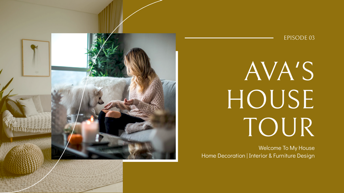 YouTube Thumbnail template: House Tour Home Introduction YouTube Thumbnail (Created by InfoART's YouTube Thumbnail maker)
