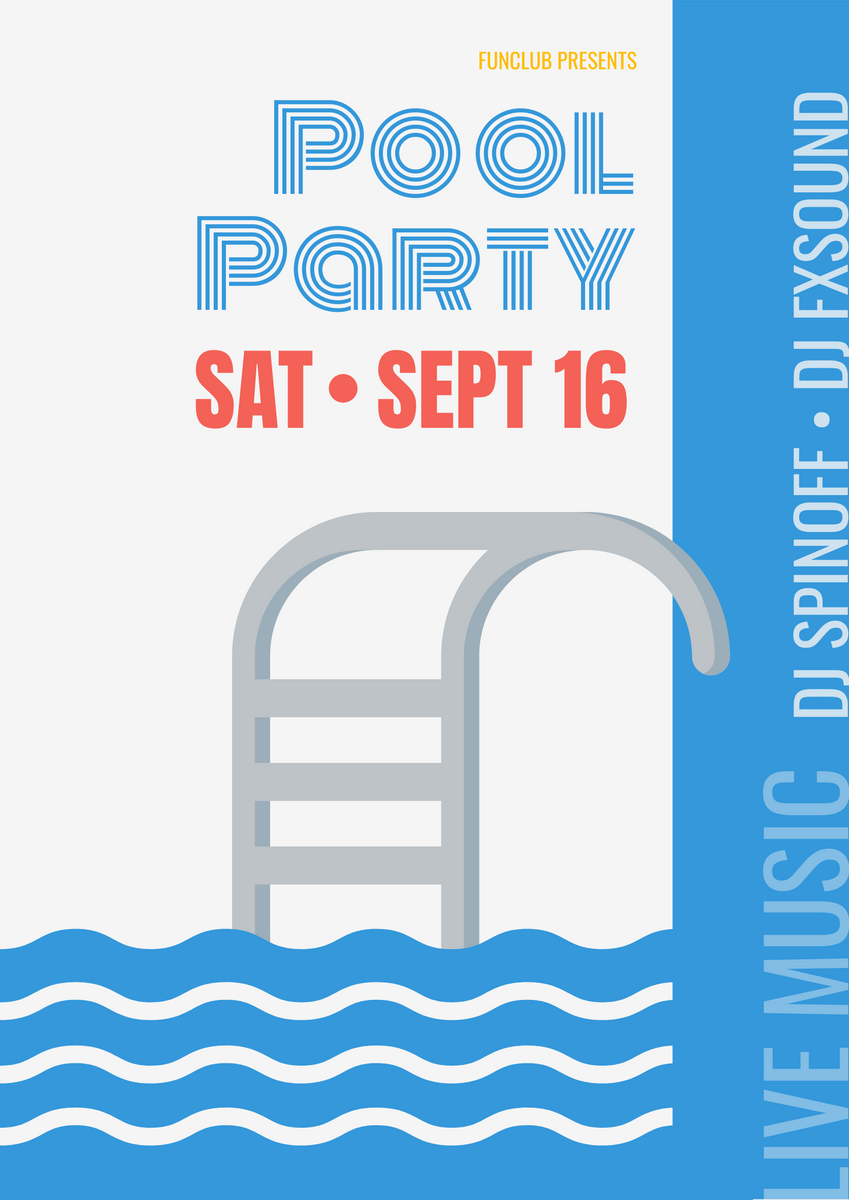Poster template: Pool Party (Created by InfoART's Poster marker)