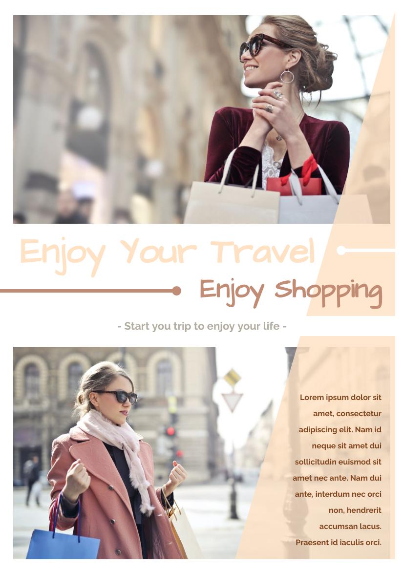 Flyer template: Shopping When Travelling Flyer (Created by InfoART's Flyer maker)