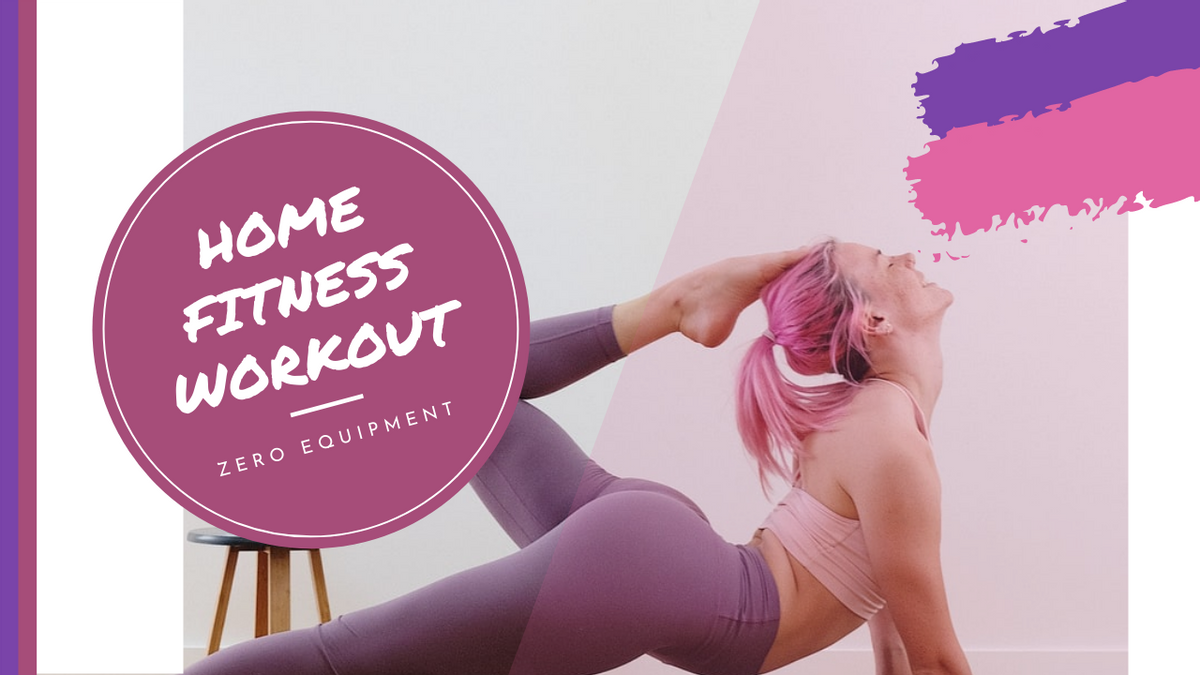 YouTube Thumbnail template: Pink And Purple Yoga Photo Home Fitness YouTube Thumbnail (Created by InfoART's YouTube Thumbnail maker)