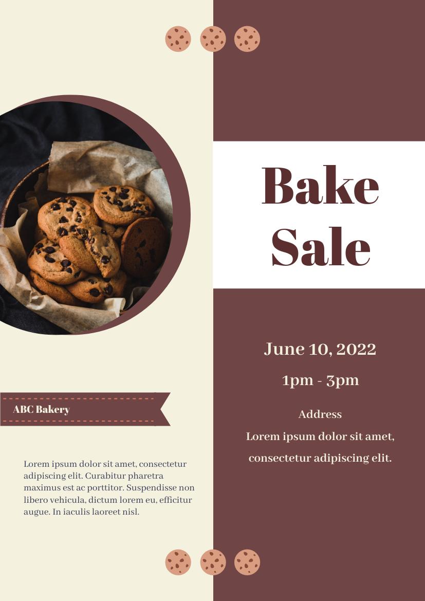 Flyer template: Bake sale flyer (Created by InfoART's Flyer maker)