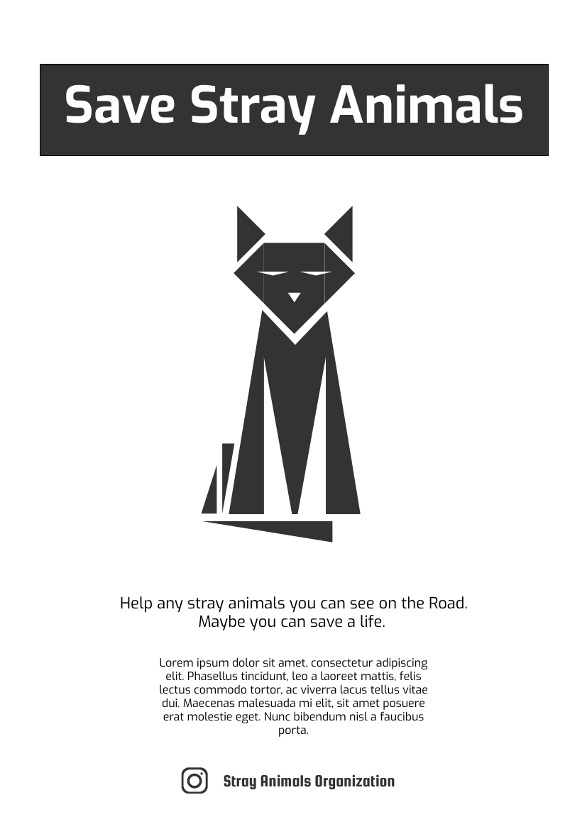 Flyer template: Save Stray Animals Flyer (Theme Of Cat) (Created by InfoART's Flyer maker)