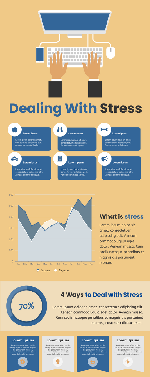 Infographic template: Dealing With Stress Infographic (Created by InfoART's Infographic maker)