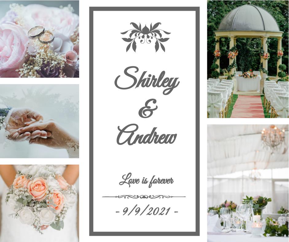 Facebook Post template: Wedding Celebration Facebook Post (Created by Collage's Facebook Post maker)