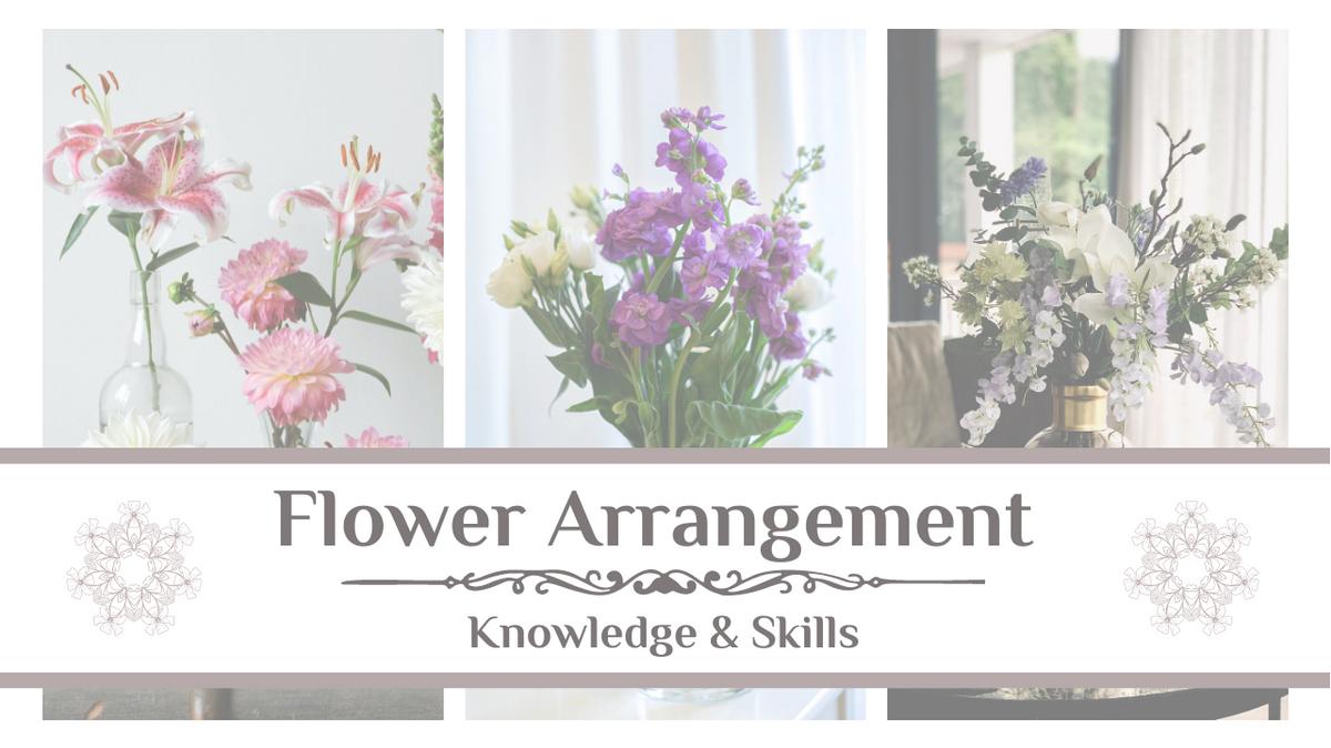 YouTube Thumbnail template: Flower Arrangement  YouTube Thumbnail (Created by Collage's YouTube Thumbnail maker)