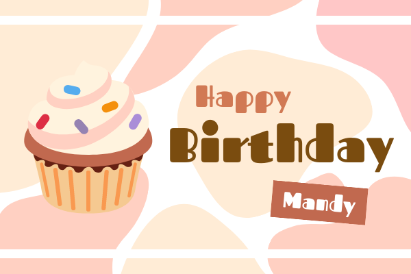 Greeting Card template: Birthday Cupcake Greeting Card (Created by InfoART's Greeting Card maker)