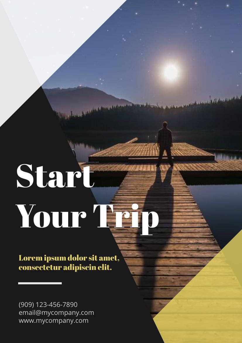 Flyer template: Travelling Flyer (Created by InfoART's Flyer maker)