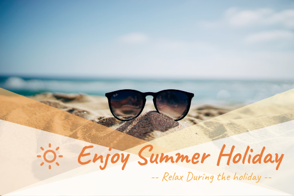 Greeting Card template: Enjoy Summer Holiday Greeting Card (Created by InfoART's Greeting Card maker)