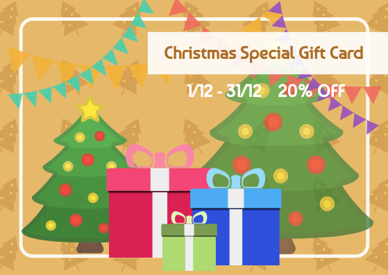 Gift Card template: Christmas Sale Gift Card (Created by InfoART's Gift Card marker)