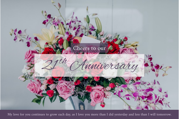 Greeting Card template: Anniversary Card (Created by InfoART's Greeting Card maker)