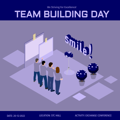 Isometric Diagram template: Team Building Day (Created by InfoART's Isometric Diagram marker)